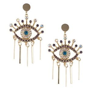 Jewelry - Evil eye statement earrings